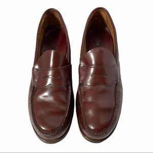 Weejuns Pennyloafer Leather Shoes Brown Preppy Academia Wide Width women 12 C